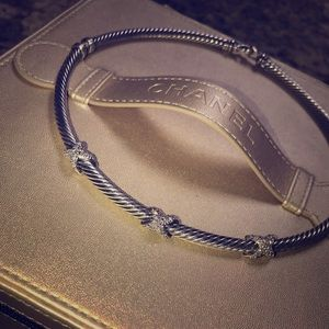 David Yurman silver & diamond necklace